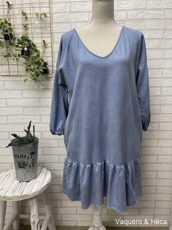 Vestido-algodón-volante-azul-claro