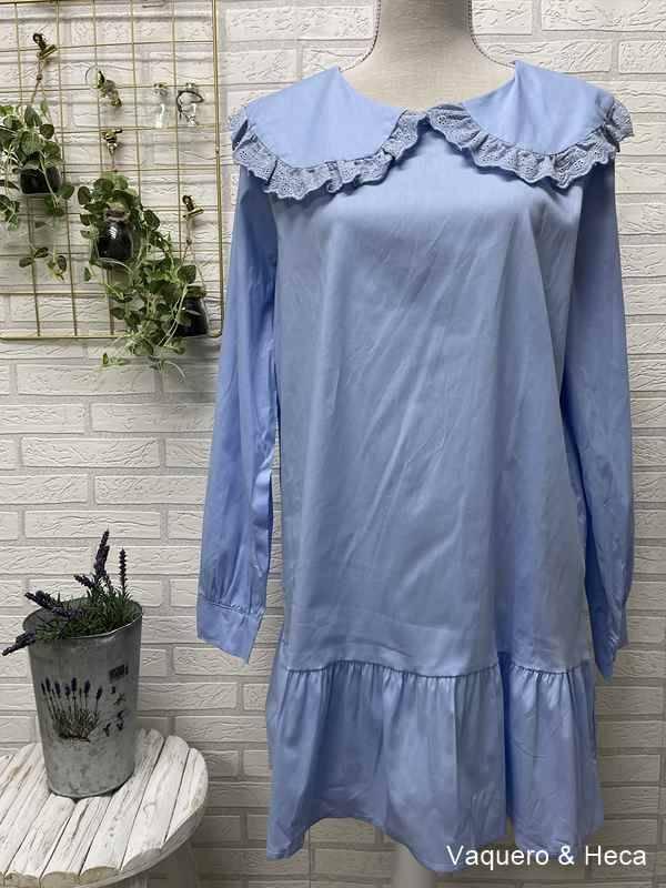 Vestido-camisero-cuello-bebé-azul-claro