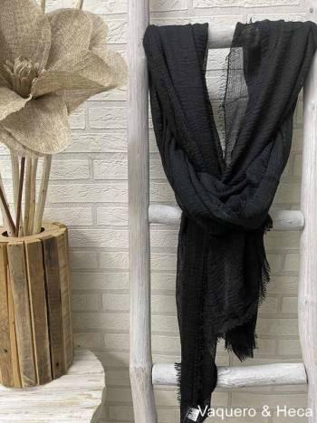 Fular-liso-arrugado-negro