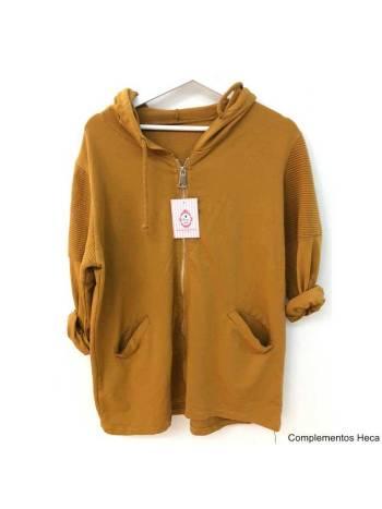 Chaqueta capucha estrella mujer 3