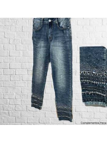 Pantalones brillo tobillo