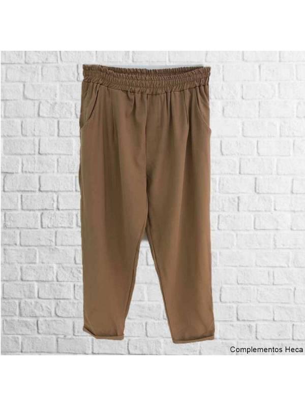 Pantalón goma básico camel